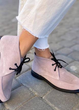 Стильные ботиночки натуральный замш