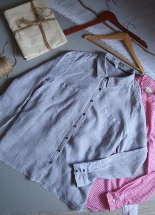 Льняная рубашка с длинным рукавом 3xl 4xl
