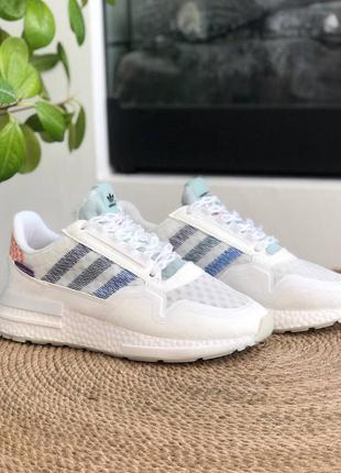 Adidas zx 500 🍏 белые женские мужские кроссовки адидас зх 500