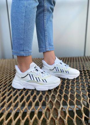 Adidas ozweego white 🍏 белые женские кроссовки адидас озвиго