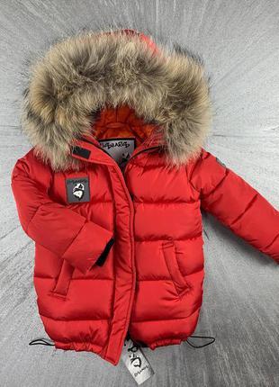 Зимнее пальто, парка с натуральным мехом