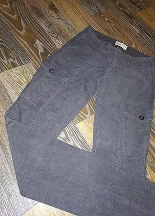 Джинсы вельветовые с карманами по бокам