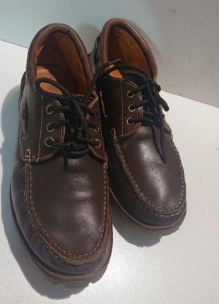 Винтажные кожаные итальянские туфли samuel windsor.hand made .