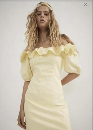 Льняное платье льон