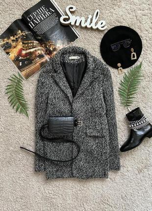 Распродажа!!! актуальное демисезонное пальто пиджак в стиле бойфренд высокий рост