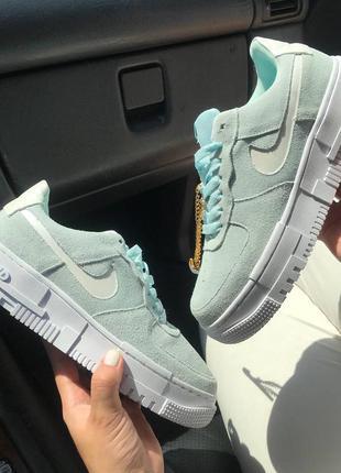 Женские зеленые кроссовки nike air force pixel найк