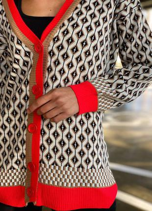 Трендовый кардиган женский на пуговицах кофьа свитер джемпер