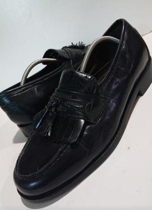 Кожаные винтажные мужские туфли. nunh bush.
