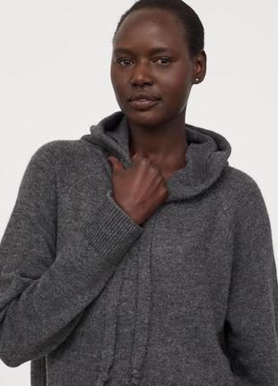 Новый вязаный худи, кофта, свитер с капюшоном h&m