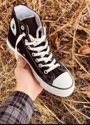 Кеды converse высокие чёрные all star high black
