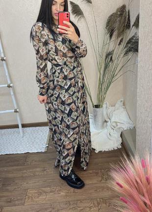 Платье макси италия dixie imperial платье рубашка сукня плаття