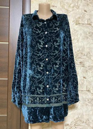 Изумительная шёлковая бархатная рубашка valerie stevens