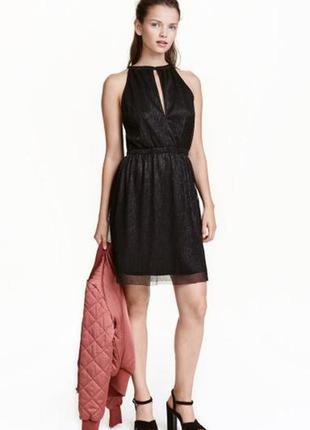 Крутое блестящее платье мелкое плиссе от h&m