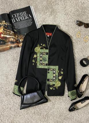 Распродажа!!! актуальный пиджак в китайском стиле с вышивкой №43
