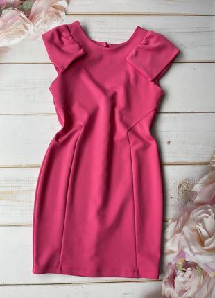 Силуэтное платье кукольно розового цвета