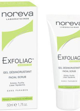 Noreva exfoliac gel desincrustant facial scrub гель эксфолиант с ана кислотами