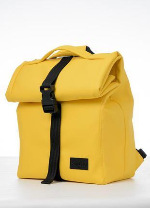 Яркий желтый мини ролл топ вместительный/удобный для подростка