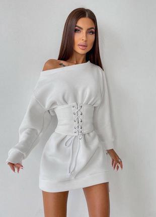 Тёплое платье на флисе