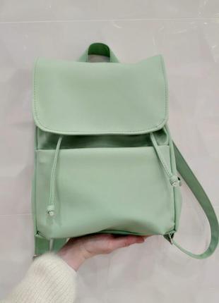 Мятный женский рюкзак loft -вместительный рюкзак на каждый день