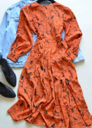 Шикарное миди платье neon rose