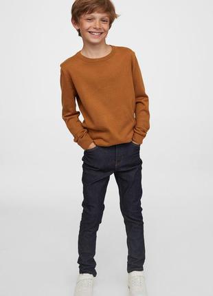 Фирменные базовые зауженные джинсы h&m, школа