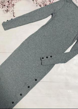 Платье миди в рубчик river ialand платье по фигуре