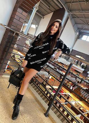 Чёрное платье туника