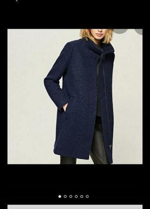 Шерстяное пальто оверсайз   reserved  xs\s