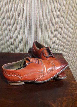 Кожаные туфли ручной работы от melvin &hamilton
