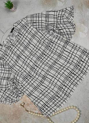 Блуза стильная легкая в клетку papaya uk 16/44/xl