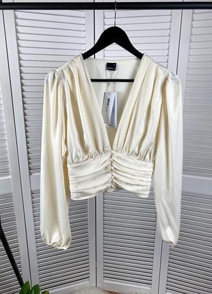 Кремовая блуза ginatricot