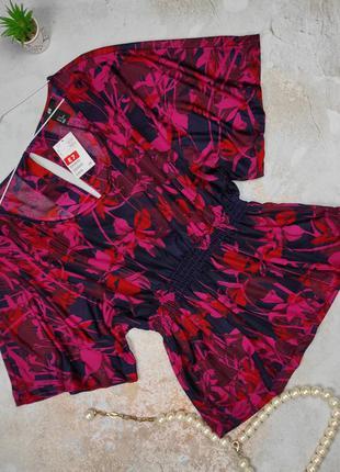 Блуза новая легкая  в цветочный принт h&m m
