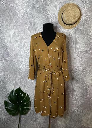 Очень крутое стильное платье с цветочным принтом в идеальном состоянии🖤 warehouse🖤