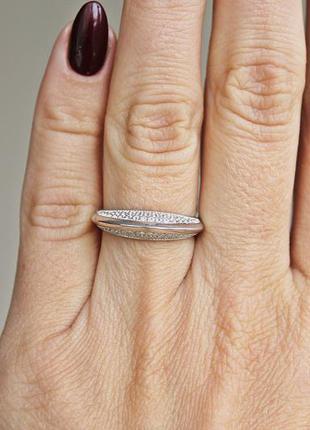Серебряное кольцо галатея р.18