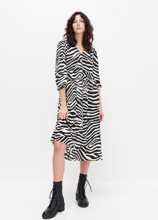 Красива фактурна сукня міді, плаття , платье миди reserved