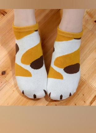 🐾 носки носочки лапки низкие короткие с силиконовым поктытием детские
