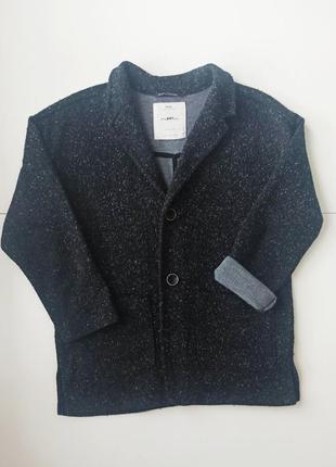 Стильный теплый пиджак в школу zara, 9 лет, рост 134