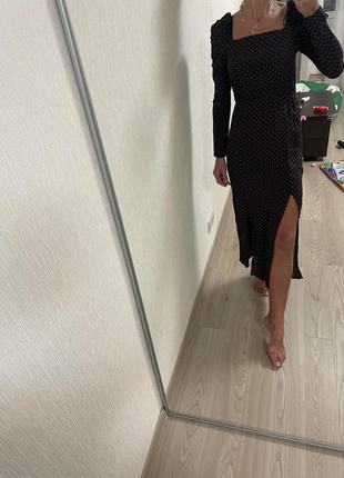 Очень красивое платье миди с разрезами