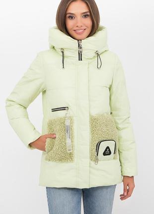 Дутая зимняя куртка с капюшоном тренд  4 расцветки
