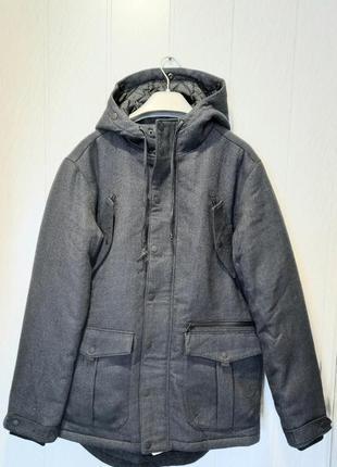 Пальто с капюшоном мужское review р. м