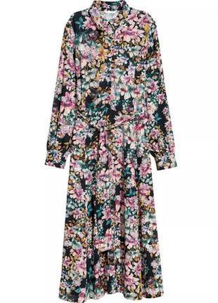H&m платье в цветочный принт  s
