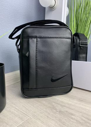 Мужской черный мессенджер / барсетка сумочка nike