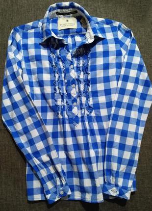 Хлопковая клетчатая рубашка, блуза maison scotch