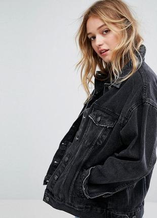 Джинсовка оверсайз bershka джинсовая куртка
