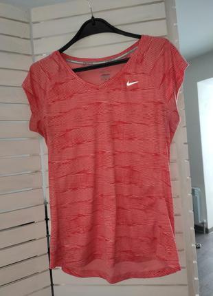 Nike футболка розовая 46 м оригинал dri fit женская спортивная для бега тренировок