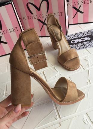 Новые нюдовые босоножки, бежевые босоножки туфли базовые