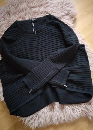 Новый брендовый свитер оверсайз с замочками