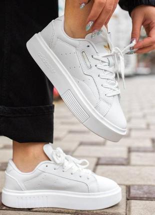 Кроссовки женские adidas super sleek, белые (адидас супер слик, кроссівки, кеди адідас)