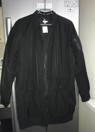 Бомбер  курта пальто удлененный