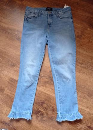 Джинсы, укороченные джинсы